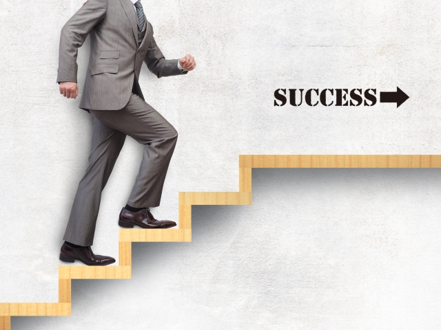転職で成功を掴むビジネスマン